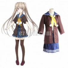 New! Anime Ao no Kanata no Four Rhythm Across the Blue Mashiro Arisaka Cosplay Costumes Dress School Uniform