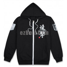 New! Attack on Titan SNK 進撃の巨人 Shingeki no Kyojin Black Long Sleeves Hoodie Jacket