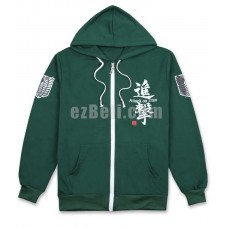 New! Attack on Titan SNK 進撃の巨人 Shingeki no Kyojin Green Long Sleeves Hoodie Jacket