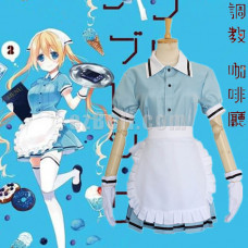 New! Anime Blend S Hinata Kaho Blue Maid Outfit Dress Cosplay Costume