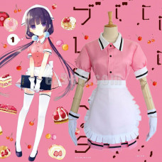 New! Anime Blend S Maika Sakuranomiya Pink Maid Outfit Dress Cosplay Costume