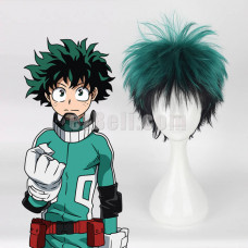 New! My Hero Academia Boku no Hero Academia Izuku Midoriya Green Black Short Cosplay Wig