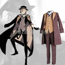 New! Bungou Bungo Stray Dogs Bungo Stray Dogs Chuya Chuuya Nakahara Coat Suit Cosplay Costume