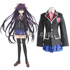 New! Anime Date A Live Tohka Yatogami Tokisaki Kurumi Raizen High School Uniform Cosplay Costume