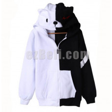 New! Anime Danganronpa Monokuma Casual Cosplay Hoodie Jacket Type 3