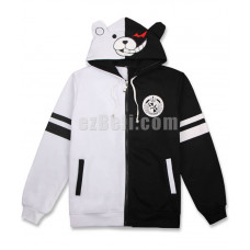 New! Anime Danganronpa Monokuma Casual Cosplay Hoodie Jacket Type 2