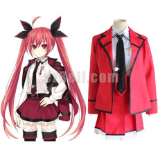 New! Anime Date A Live Itsuka Kotori Red School Uniform Cosplay Costume