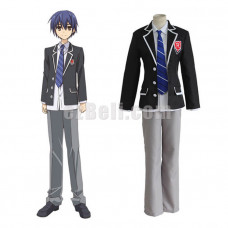 New! Anime Date A Live Itsuka Shido Raizen High School Uniform Cosplay Costume