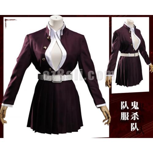 Anime Demon Slayer Kimetsu No Yaiba Kanroji Mitsuri Cloak Cosplay Costume Japan anime kanroji mitsuri kimono suit: anime demon slayer kimetsu no yaiba