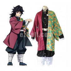 New! Anime Demon Slayer Kimetsu no Yaiba Tomioka Giyuu Japanese Kimono Blade of Demon Destruction Cosplay Costume