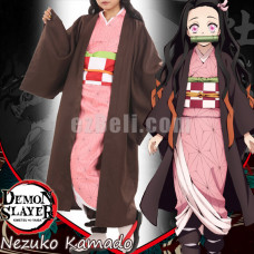 New! Anime Demon Slayer Kimetsu no Yaiba Kamado Nezuko Woman Japanese Clothes Cosplay Costume