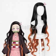New! Anime Demon Slayer Kimetsu no Yaiba Kamado Nezuko Cosplay Wig