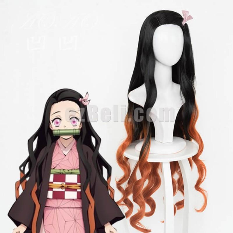 New! Anime Demon Slayer Kimetsu no Yaiba Kamado Nezuko Cosplay Wig