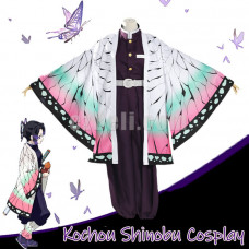 New! Anime Demon Slayer Kimetsu no Yaiba Kochou Shinobu Cloak Cosplay Costume