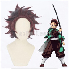 New! Anime Demon Slayer Kimetsu no Yaiba Tanjirou Kamado Blade of Demon Destruction Cosplay Wig