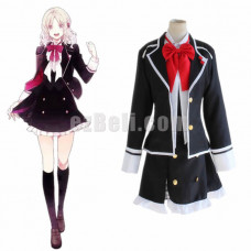 New! Anime Diabolik Lovers Komori Yui Cosplay Costume School Uniform