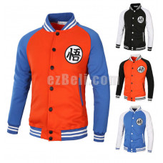 New! Anime Dragon Ball Goku Varsity Jacket Casual Baseball Coat Jacket
