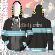 New! Anime Enn Enn No Shouboutai Fire Force Hoodie 3D Print Firesoldier Jacket Coat