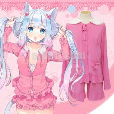New! Eromanga Sensei Izumi Sagiri Pink Sleepwear Pajamas Cosplay Costume Set