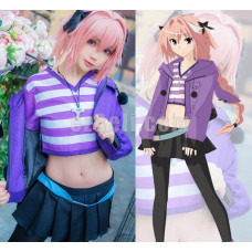 New! Anime FGO Fate Grand Order Apocrypha Rider Astolfo Asutorufo Servant Uniform Cosplay Costumes