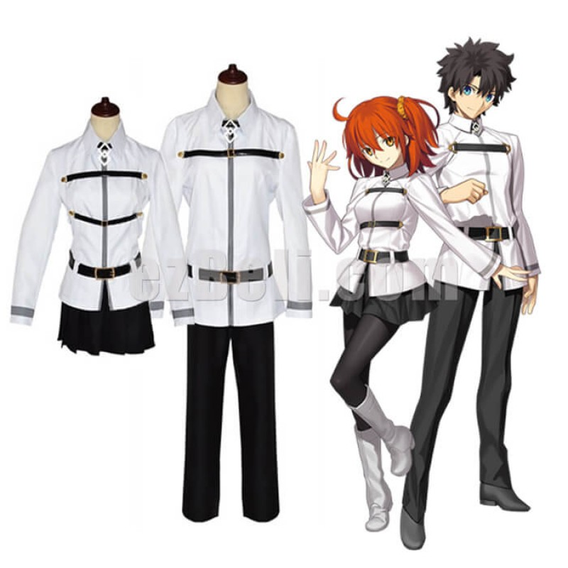 New! Anime FGO Fate/Grand Order: First Order Ritsuka Fujimaru Gudako Emiya Uniform Cosplay Costumes