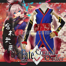 New! Fate Grand Order Miyamoto Musashi Cosplay Costume