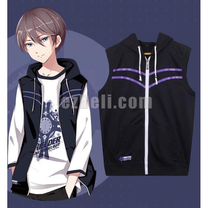 New! Anime Fate Grand Order Shielder Mashu Kirielite Sleeveless Hoodie Vest Casual Cosplay