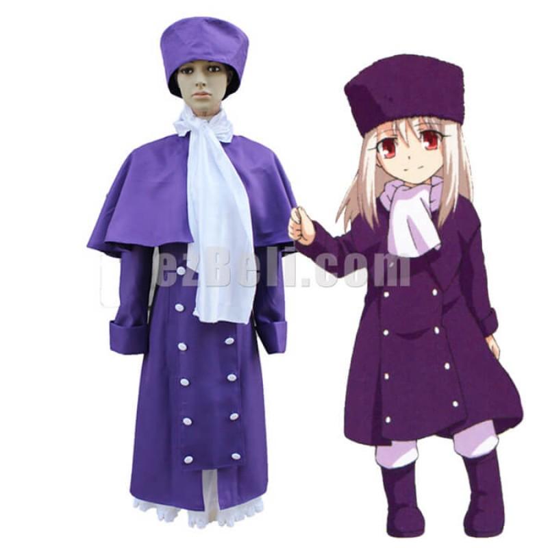 New! Fate/stay Night Anime Fate Zero Illyasviel Von Einzbern Purple Dress Cosplay Costume