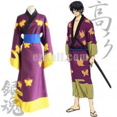 New! Gintama SIlversoul Takasugi Shinsuke Kimono Cosplay Costume