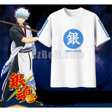 New! Anime Gintama Sakata Gintoki Casual Cosplay T-Shirts