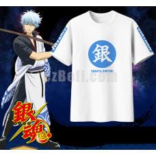 New! Anime Gintama Sakata Gintoki Casual Cosplay T-Shirts