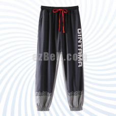New! Anime Cosplay Gintama Sakata Gintoki Casual Cosplay Cotton Pants