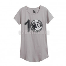 New! Anime Gintama Silver Soul Sakata Gintoki Long T-shirt Pajamas Short Sleeves Printed Shirts Daily Casual Cosplay Dress