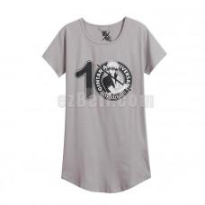 New! Anime Gintama Silver Soul Sakata Gintoki Long T-shirt Pajamas Short Sleeves Printed Shirts Daily Casual Cosplay Dress