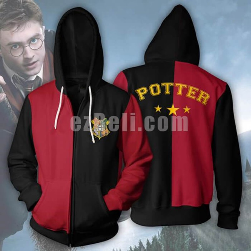 New! Harry Potter Gryffindor Quidditch Casual Cosplay Hoodie Jacket