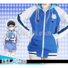 New! Anime ISLAND Rinne Ohara Kawaii Girls School Uniform Cosplay Costumes