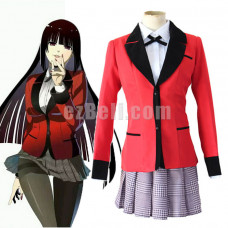 New! Anime Kakegurui: Compulsive Gambler Jabami Yumeko Red School Uniform Cosplay Costume