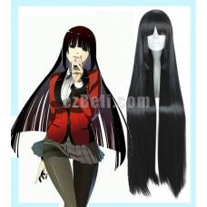 New! Anime Kakegurui: Compulsive Gambler Jabami Yumeko Long Black Cosplay Wig