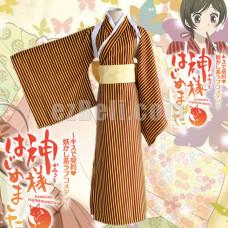 New! Anime Kamisama Kiss Hajimemashita Momozono Nanami Kamisama Love Kimono Cosplay Costume
