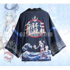 New! Kantai Collection Shimakaze Chiffon Pajamas Cloaks Casual Cosplay Yukata Kimono Coat Bathrobes