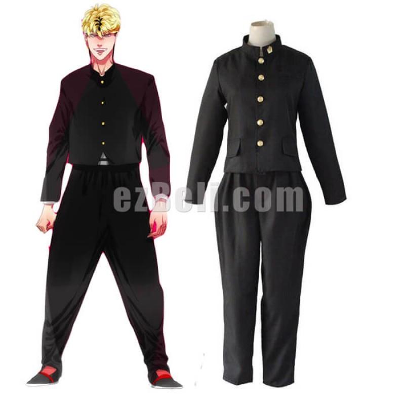 New! Anime Japan Kyou Kara Ore Wa Shinji Itou Takashi Mitsuhashi Black Coat Pants Men Uniform Cosplay Costume