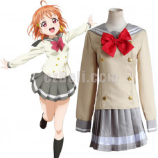 New! Love Live! Sunshine Aqours Takami Chika School Uniform Sailor Suit Cosplay Costume