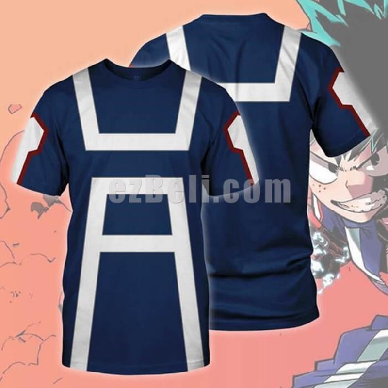 New! Anime My Hero Academia Boku no Hero Izuku Midoriya Katsuki Todoroki Gym Casual Cosplay T-Shirt