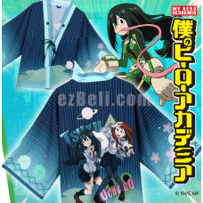 New! Anime My Hero Academia Tsuyu Uchaho Chiffon Pajamas Cloaks Casual Cosplay Yukata Kimono Coat Bathrobes