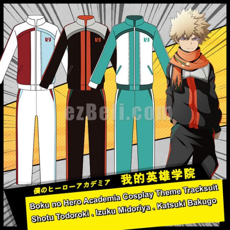 New! Anime My Hero Academia Boku no Hero Izuku Midoriya Katsuki Todoroki Shoto Todoroki Cosplay Theme Tracksuit
