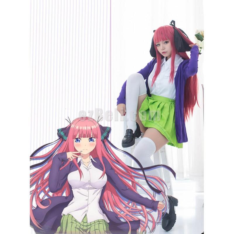 New! Anime Gotoubun no Hanayome The Quintessential Quintuplets Nakano Nino Cosplay Costume