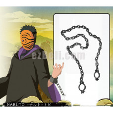New! Naruto Akatsuki Ninja Tobi Obito Madara Uchiha Chain Cosplay Prop