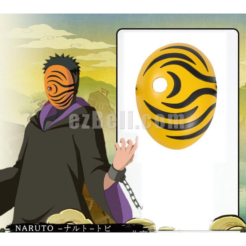 New! Naruto Akatsuki Ninja Tobi Obito Madara Uchiha Mask Cosplay Prop