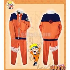 New! Anime Naruto Uzumaki First Generation Cosplay Costume