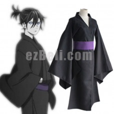 New! Anime Noragami Yato Black Yukata Cosplay Costume